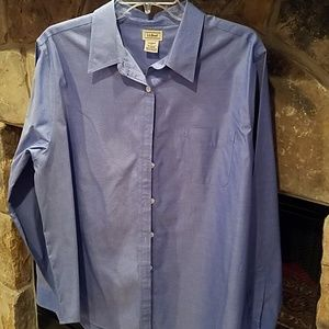 GUC LL Bean Blue Womens Shirt XL